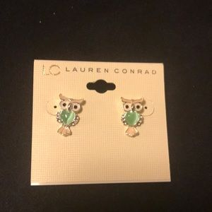LC LAUREN CONRAD owl earrings! Brand new!